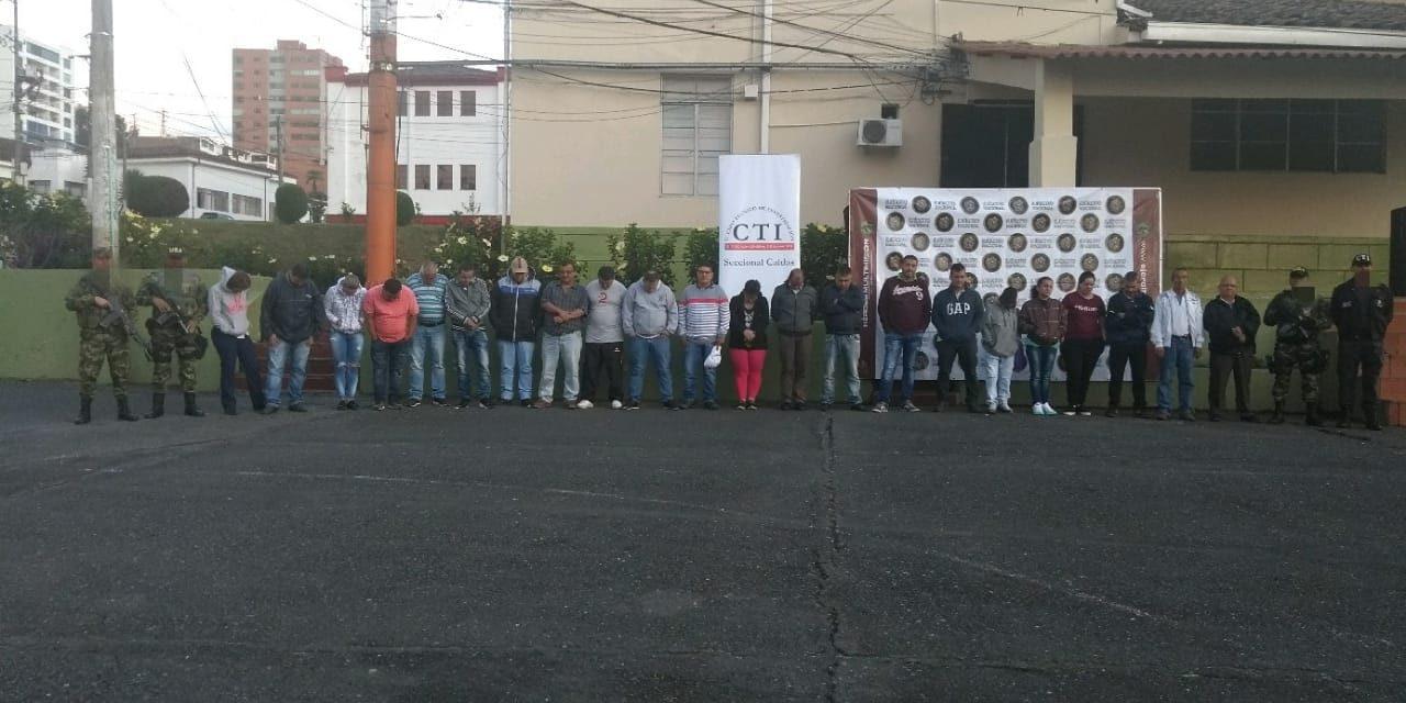 Tropas del Batallón Ayacucho, Gaula Ejército Eje Cafetero y Fiscalía, desarticulan banda que se dedicaba a actividades ilícitas