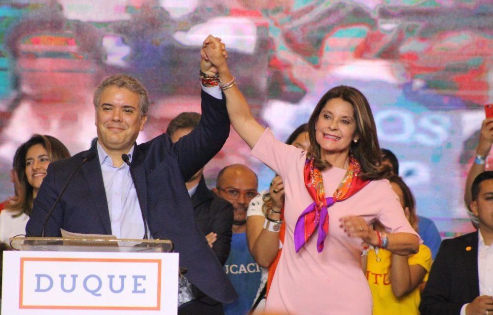 Discurso del candidato presidencial Iván Duque, tras conocer los resultados de la jornada electoral