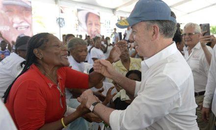 Cobertura universal para los adultos mayores de Tumaco anuncia el Presidente Santos