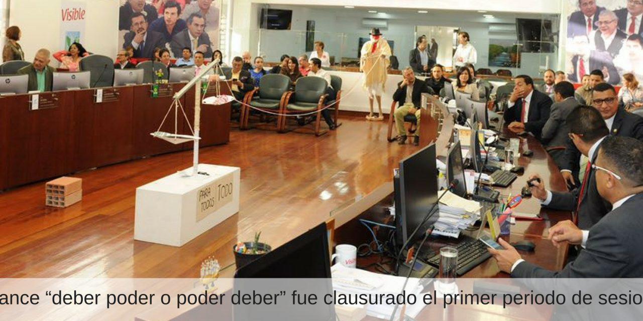 Presentación en el concejo  de Manizales