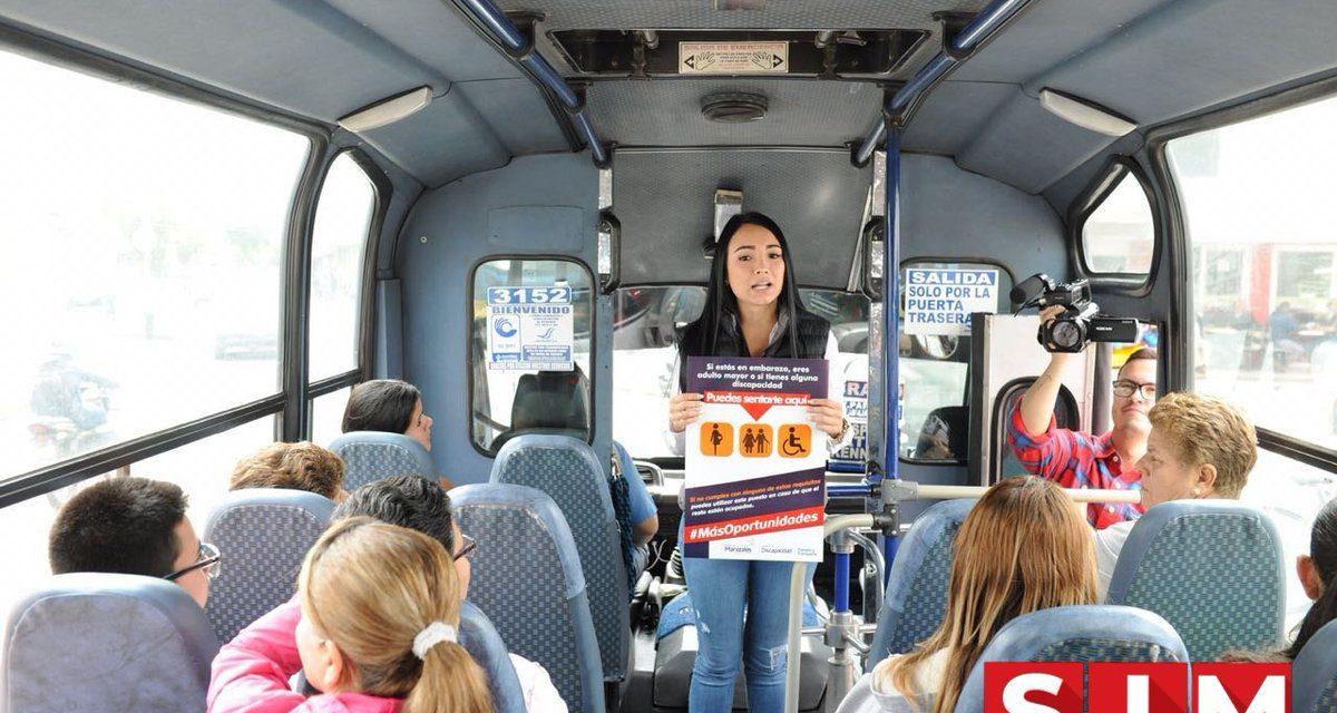 Primeros puestos de los vehículos de transporte público son para personas en discapacidad,