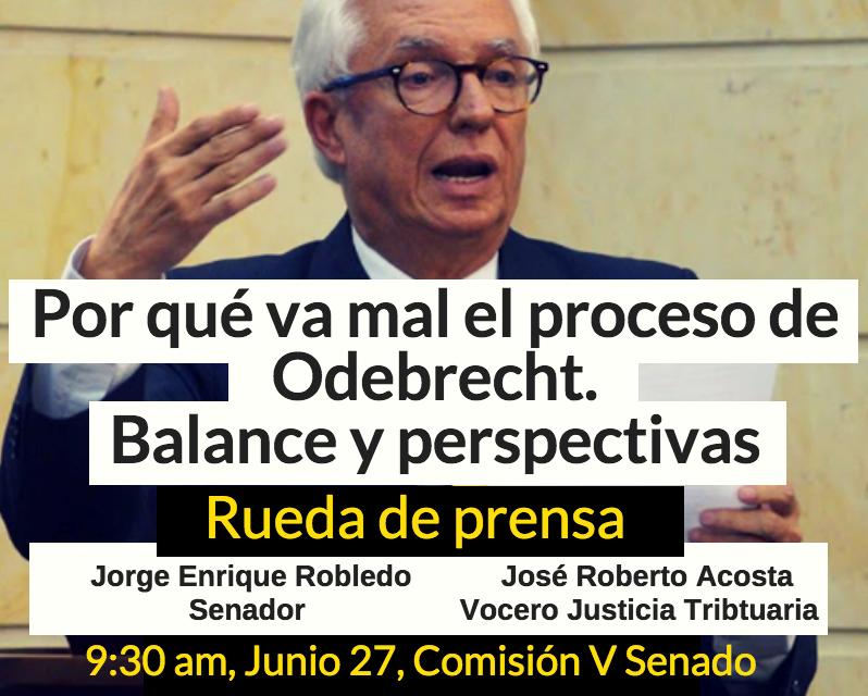 """«Odebrecht-Grupo Aval le están reclamando al país 3.6 billones de pesos en medio de un pacto de impunidad"""": Robledo"""