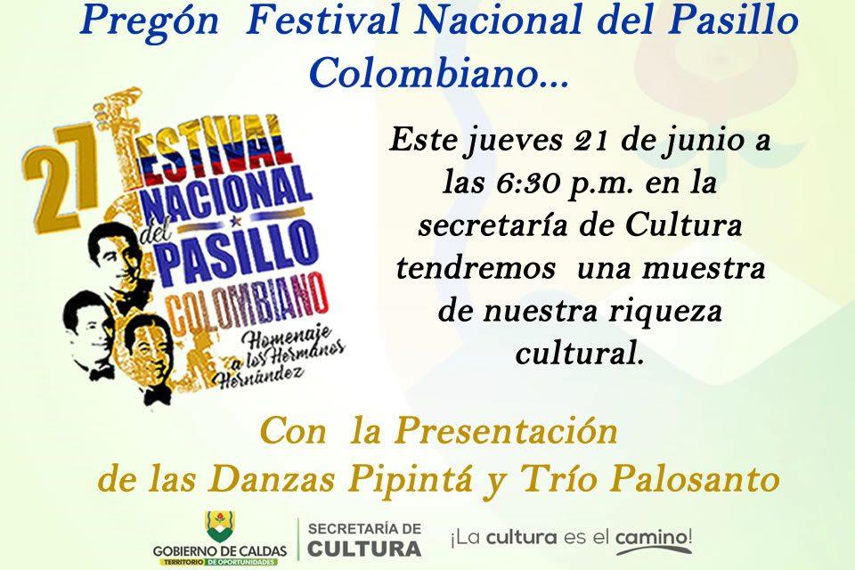 Invitación para el próximo jueves 21 de junio presentación del festival del pasillo