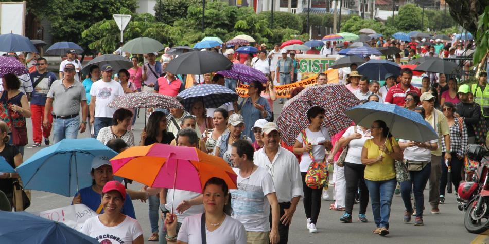 La ruta que recorrerán los maestros durante el paro en Bogotá