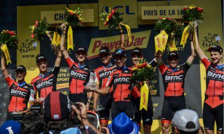 El BMC ganó la contrarreloj por equipos en el Tour de Francia 2018