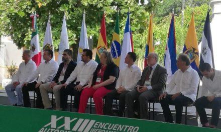 EL GOBERNADOR DE CALDAS Y PRESIDENTE DE LA UIM, GUIDO ECHEVERRI PIEDRAHITA,  INAUGURÓ EL XXIII ENCUENTRO IBEROAMERICANO DE AUTORIDADES LOCALES EN VERACRUZ (MÉXICO). SEGURIDAD Y PAZ, LOS TEMAS CENTRALES DEL EVENTO