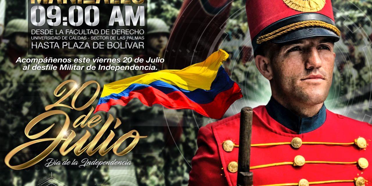 Los soldados de la Octava Brigada conmemoran 208 años de Independencia de la mano del pueblo colombiano.