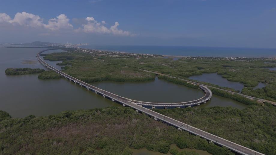 Presidente Santos entregará las obras del viaducto más extenso del país en Cartagena