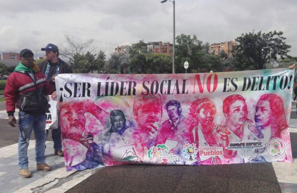 Amnistía Internacional llama la atención a Santos y a Duque ante asesinatos de líderes sociales