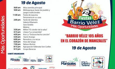 LOS 105 AÑOS DEL BARRIO VÉLEZ, LOS CELEBRARÁ EL GOBIERNO DE MÁS OPORTUNIDADES POR TODO LO ALTO