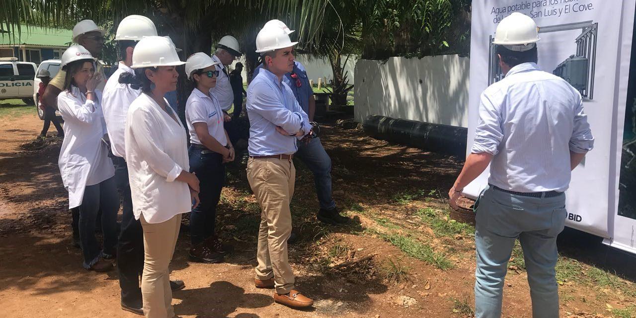 Minvivienda verifica avance de obras de acueducto y alcantarilladoa en San Andrés y Providencia