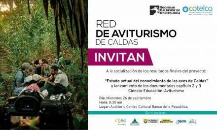 INVITACIÓN SOCIALIZACIÓN INVESTIGACIÓN INVENTARIO DE AVES