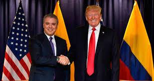 Presidente Duque se entrevista este martes con el Presidente de EEUU, Donald Trump