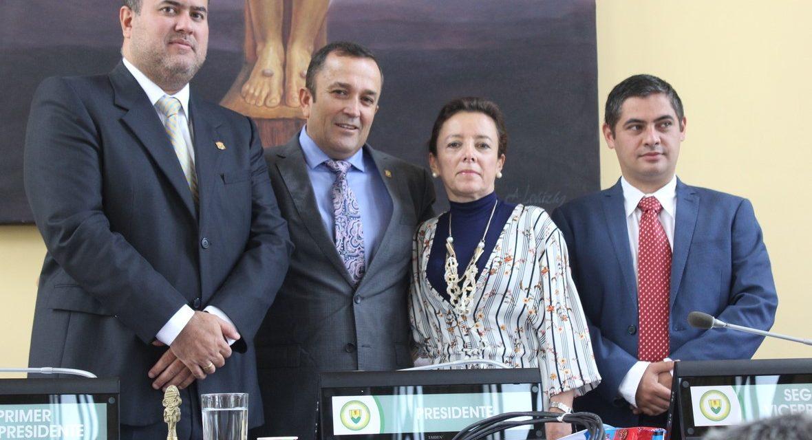 Asamblea Departamental de Caldas tiene Presidente y Segundo Vicepresidente para la vigencia 2019