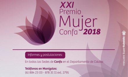 Postulaciones para el  XXI Premio Mujer Confa 2018