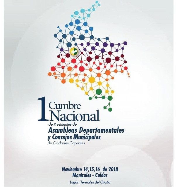 Por Ser referente Nacional de Planificación Regional, con la creación de la RAP Eje Cafetero, Caldas fue elegida Como sede de la Primera Cumbre de Diputados y Concejales de Colombia.