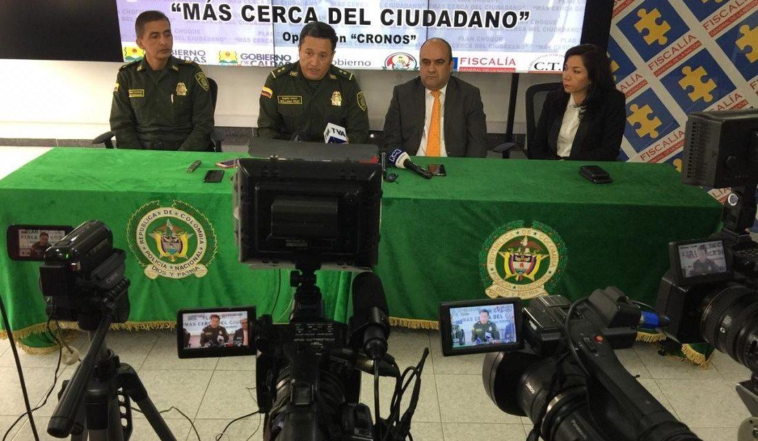 EN MENOS DE 72 HORAS LAS AUTORIDADES DE CALDAS CAPTURARON A LOS TRES PRESUNTOS AUTORES DE MASACRE A MIEMBROS DE UNA MISMA FAMILIA INDÍGENA EN RIOSUCIO. LA ACCIÓN PERMITE RATIFICAR QUE EN CALDAS NO HAY PRESENCIA DE BANDAS CRIMINALES