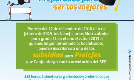 Confa abre la postulación para el subsidio de Preicfes 2019