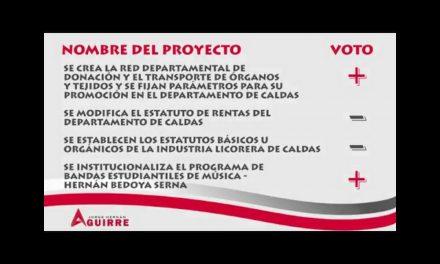 JORGE HERNAN AGUIRRE PRESENTO SU GESTIÓN DE TRABAJO