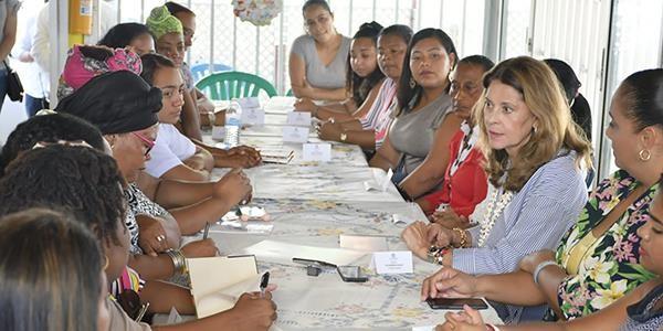 Vicepresidenta se reunió con líderes de mujeres en San Andrés