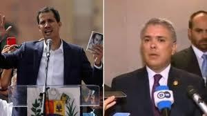Presidentes Duque y Guaidó llegaron a las bodegas de Tienditas a coordinar detalles de la entrega de la ayuda humanitaria para Venezuela