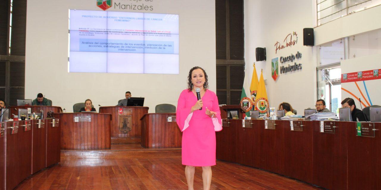 """Concejales de Manizales aprobaron la iniciativa que adopta la estrategia: """"Entornos libres de cáncer femenino"""""""
