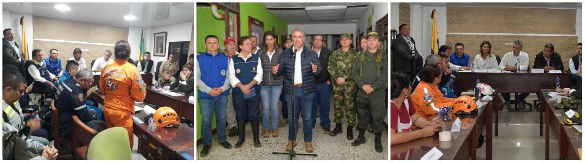 """""""TRABAJAMOS DE MANERA INTEGRAL Y ARTICULADA POR EL BIENESTAR DE LAS FAMILIAS AFECTADAS"""" PRESIDENTE IVÁN DUQUE"""