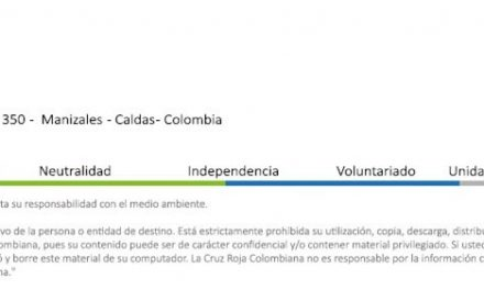 La Cruz Roja Colombiana Seccional Caldas invita a los caldenses a donar