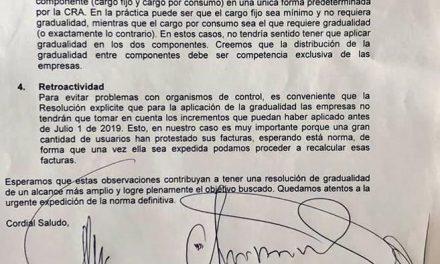 GOBERNADOR DE CALDAS REALIZÓ NUEVA SOLICITUD OFICIAL A LA COMISIÓN DE REGULACIÓN DE AGUA PARA QUE INCREMENTOS DE TARIFAS SE PAGUEN DE MANERA GRADUAL A UN PLAZO DE 36 MESES Y DE ACUERDO CON LA CAPACIDAD DE CADA EMPRESA