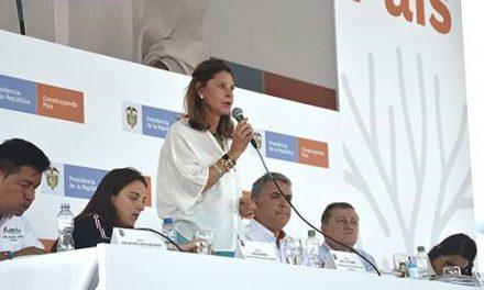 Más de 560 mil millones de pesos se han invertido hasta ahora en el plan de reconstrucción de Mocoa, reportó la Vicepresidenta Marta Lucía Ramírez