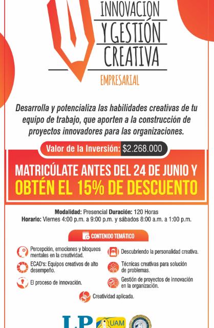 Invitacion Diplomado Innovación y Gestión Creativa Empresarial