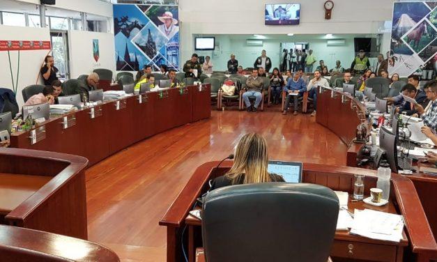 Clausurado el segundo período de sesiones extraordinarias en el Concejo de Manizales