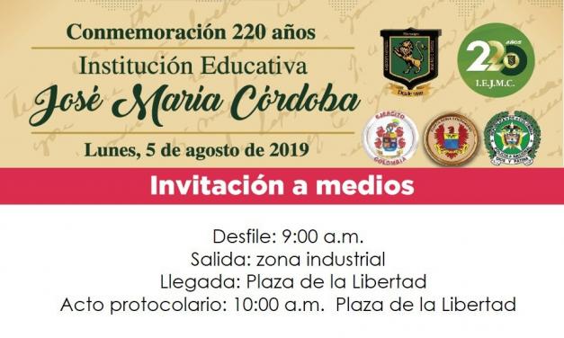 CONMEMORACION 220 AÑOS DE I.E.