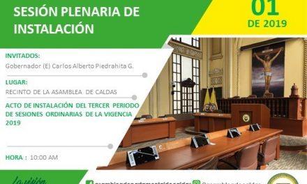 Tercer periodo de sesiones Ordinarias de la Asamblea Departamental de Caldas.