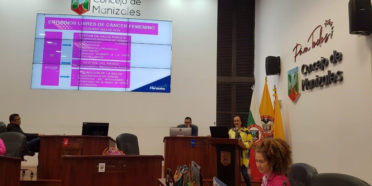 """Manizales avanza en temas de salud con la estrategia """"Entornos libres de cáncer femenino"""""""