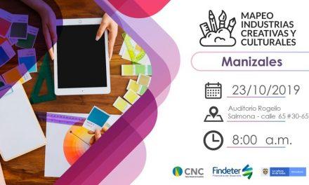 lMapeo deIndustrias Culturales y Creativasde la ciudad este próximomiércoles23 de octubrea las8:00 a.m