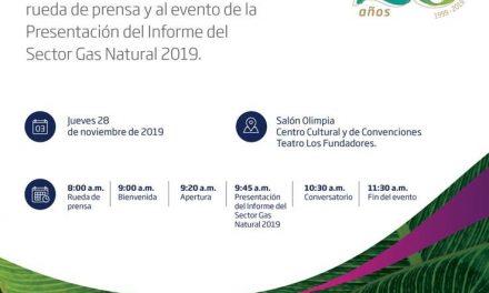 Invitación Informe del Sector Gas Natural – 28 de noviembre de 2019