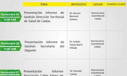 ACTIVIDADES DE LA ADMINISTRACIÓN DEPARTAMENTAL DEL 30 DE NOVIEMBRE AL 6 DE DICIEMBRE DE 2019