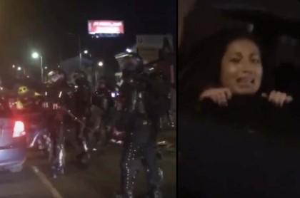 [Videos] Aterrador: Esmad mete a la fuerza a 2 manifestantes en carros particulares