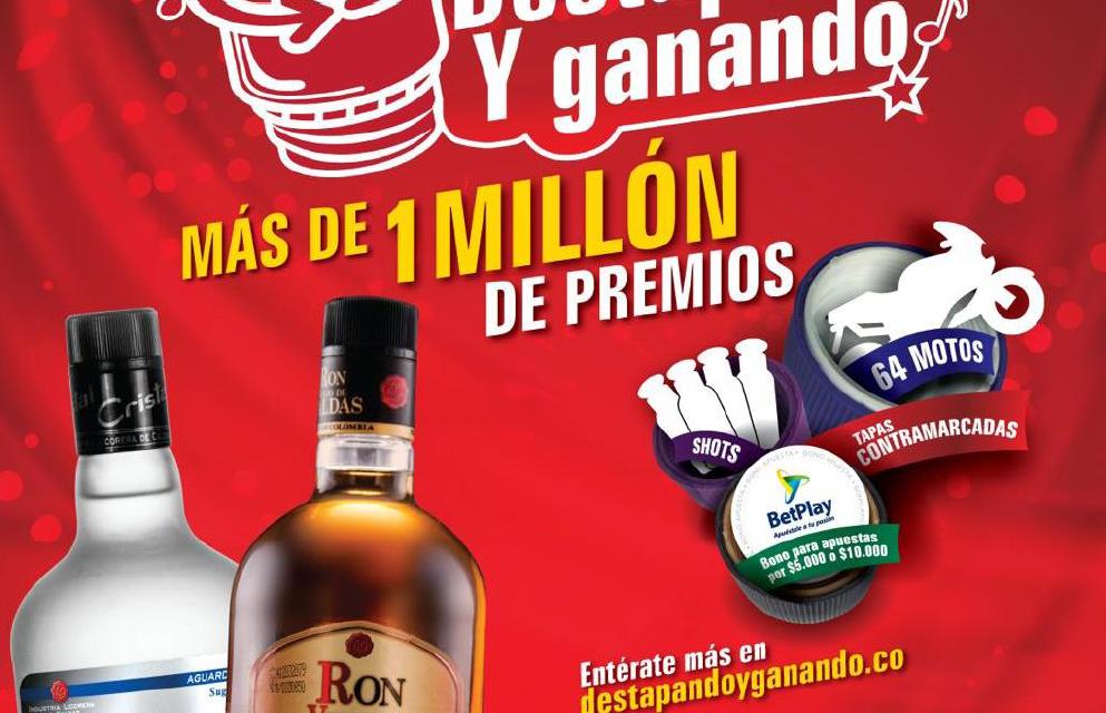 Industria Licorera de Caldas entrega más de un millón de premios a sus consumidores con Destapando y Ganando