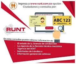 No viaje sin verificar en www.runt.com.co la vigencia de sus trámites
