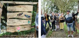 Jóvenes con capacidades diferentes convirtieron zona verde en sendero ecológico
