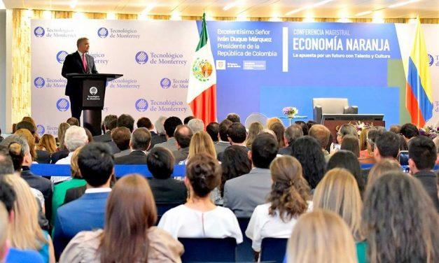 Presidente Duque dice que la 'meta es que Colombia sea el principal poder económico de América Latina en materia de industrias creativas'