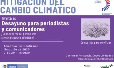 Invitación_Desayuno para periodistas_Cambio Climático
