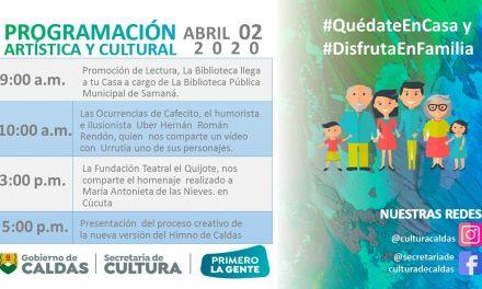 PROGRAMA VIRTUAL DE LA SECRETARIA DE CULTURA DE CALDAS