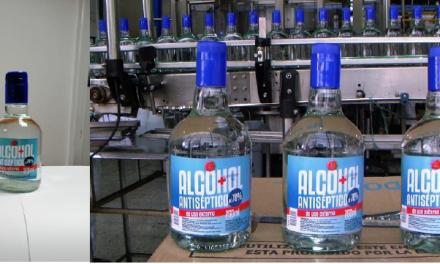 ILC INICIÓ HOY LA PRODUCCIÓN DE 466 MIL BOTELLAS DE ALCOHOL ANTISÉPTICO DE 750 ML.