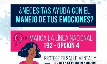 Primeros auxilios psicológicos, uno de los retos en salud mental debido a la pandemia por Covid-19. Desde la Territorial de Salud se fortalecen las líneas para atender a los ciudadanos