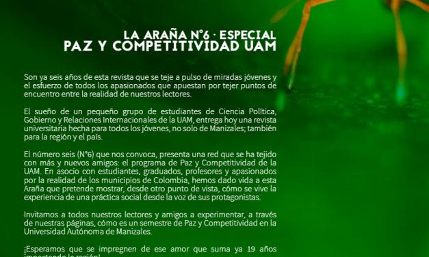 Revista Araña que Teje hará lanzamiento virtual de su edición #6