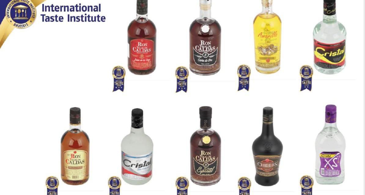Mejores chefs y sommeliers del mundo premian la calidad y sabor del Ron Viejo de Caldas y el Aguardiente Cristal