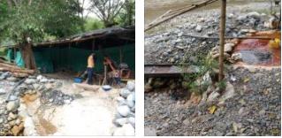 Explotación subterránea de oro aluvial en Filadelfia generó daños al ecosistema y los recursos naturales